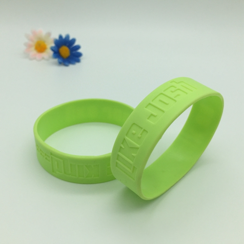 Debossed silicone wristbands
