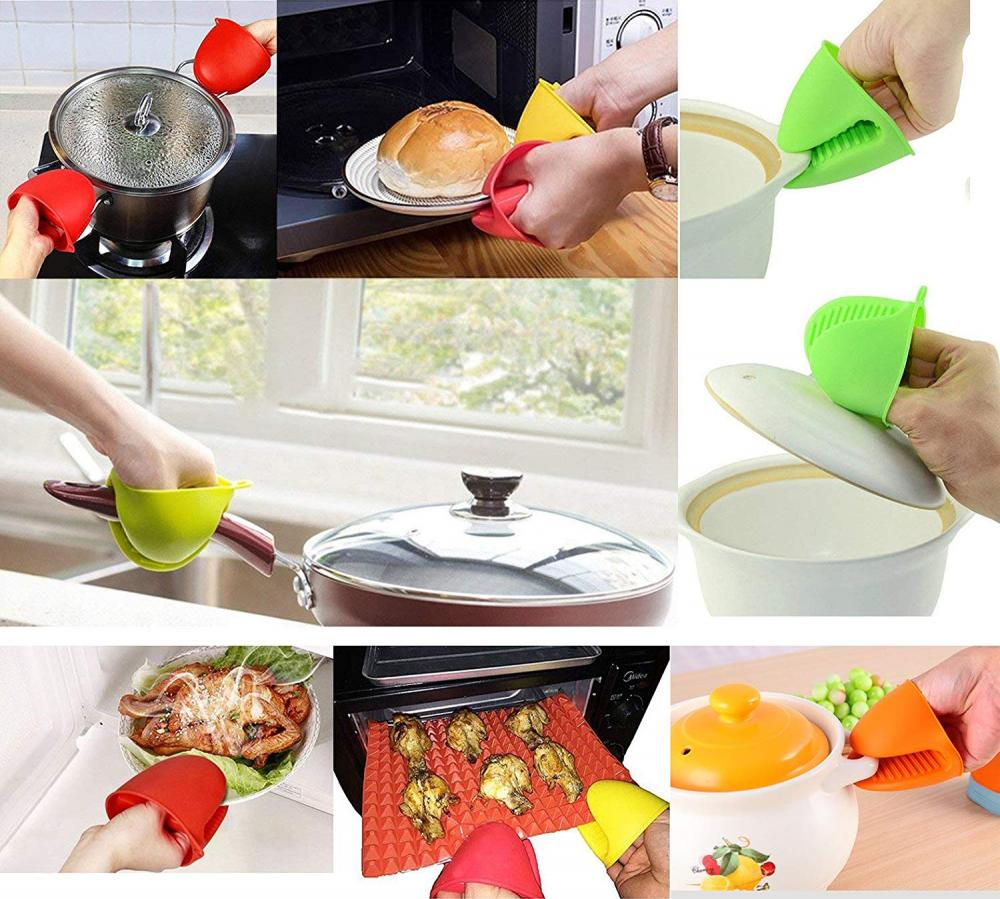 oven mitts with silicone