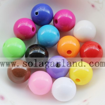 Various Size Opaque Acrylic Loose Spacer Beads For Jewelry Making