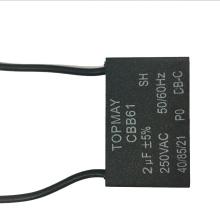 Condensateur Ventilateur Noir Cbb61 250VAC 2UF
