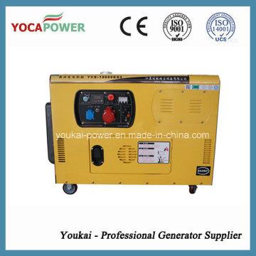 10kw motor diesel silente generador eléctrico portátil de energía con 4 tiempos diesel generador de generación de energía