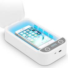 Boîte de stérilisateur de lumière UV de téléphone de chargeur sans fil