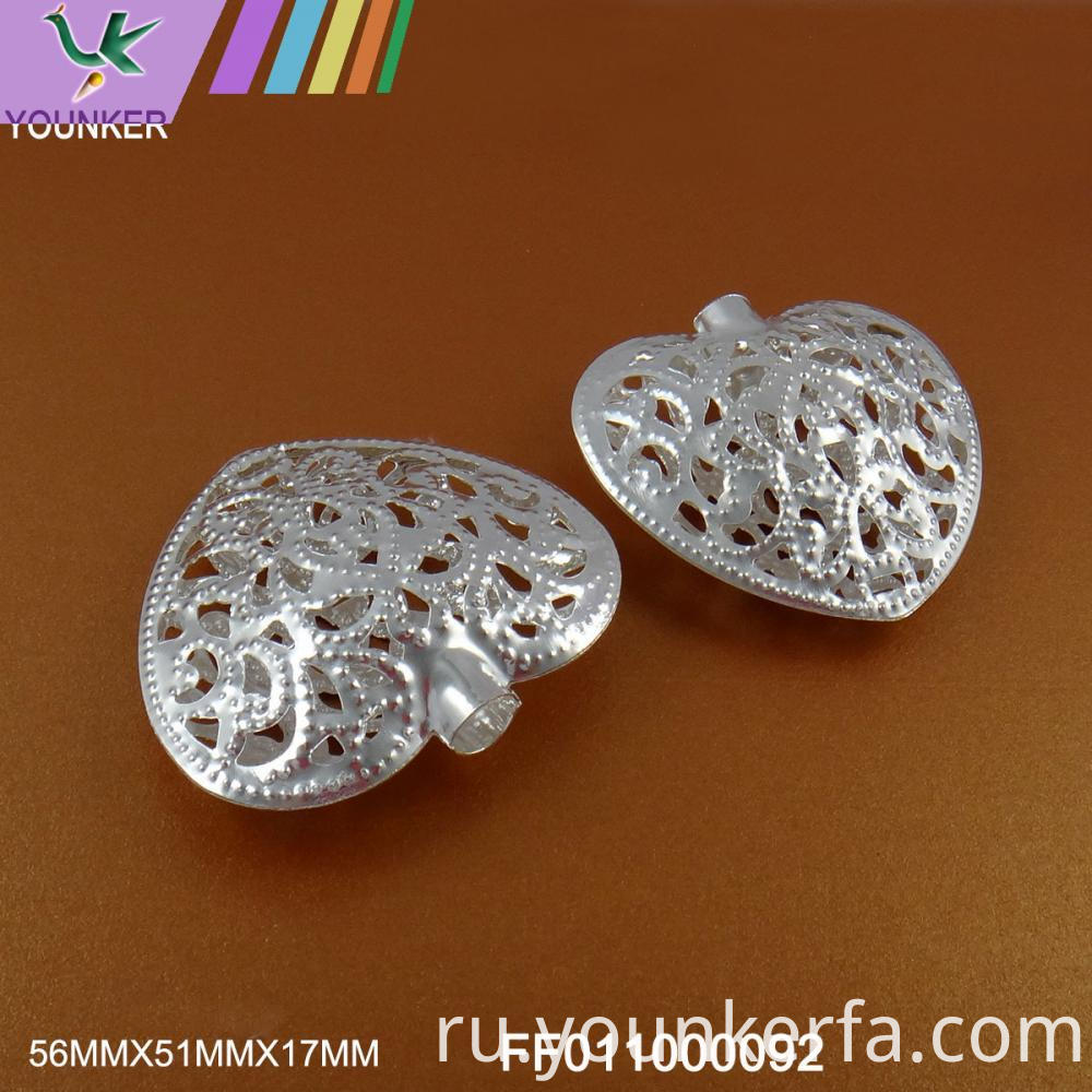Silver Led String Heart Shape Ornaments