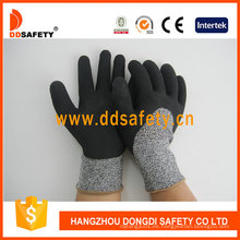 Guantes de seguridad de revestimiento de látex con espuma de guante de corte Dcr430
