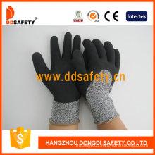 Cut Resistance Glove Foam Latex Coating Safety Gloves Dcr430