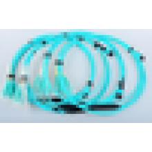 MPO LC cabo de remendo óptico da única fibra do modo com o cabo da fita da fibra óptica 12core / 24core / cabo G657A