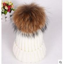 Ручная вязаная шапка нового дизайна с POM