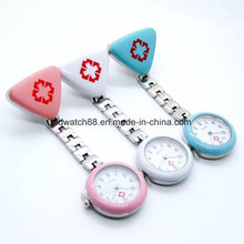 Clip Nurse Doctor Pendant Pocket Quartz Red Cross Brooch Nurses Watch