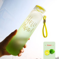 High Quality Rainbow color Glass Water Bottle with Holder