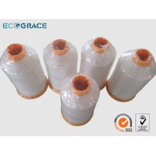 100% reines PTFE Nähgarn für Staubabscheider Filtertasche