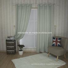 Padrão de tira moderna de linho Tocando tela de cortina de janela