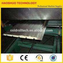 Cadena de producción del panel de bocadillo de la PU, máquina continua de fabricación del panel de bocadillo de la PU