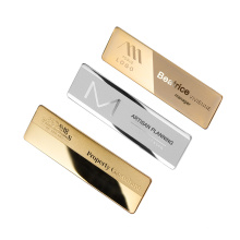 Wholesale Stainless Steel Gold-plated Name Brand Pins Custom Metal Employee Nametag Name Badge