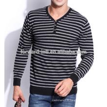 Chandail tricoté en cachemire à rayures mode hiver 2014