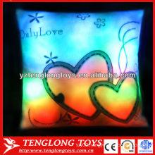 Custom hot LED night light pillow stuffed lighted pillow