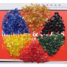 Озеленение Стеклянные чипы Цветные скретчатые стеклянные обрывки