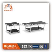 CT-07 ET-07 table basse moderne en verre d'acier inoxydable