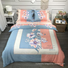 Luxury Good Quality Bed Linen Cotton Printed Soft for Queen Bed Sheet Set