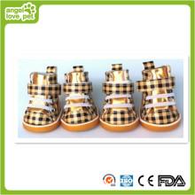 Pet Supply, Golden Color Print Fashion Dog Shoes (HN-PC754)