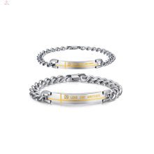 Personalized couples heavy bracelet jewelry, promise bracelets for couples