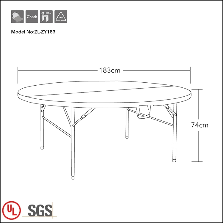 Plastic Table for Wedding