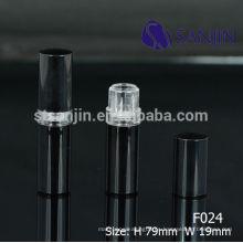 2015 nuevo cosmético empaquetado plástico negro labio bálsamo tubo vacío lindo labio bálsamo envase