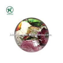 Crystal Paper Weight with Decal Paper (KL140308-1A)