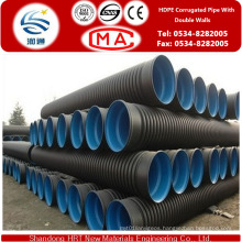 Dn50-Dn1800 HDPE Double Wall Corrugated Pipe for Green Belt