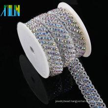 Crystal Cup Rhinestone Applique Trimming For Bridal Crystal Sash Wedding Belt