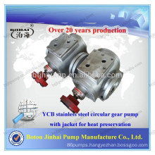 YCB series stainless steel circular gear pump with jacket for heat perservation