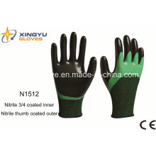 Polyester+Spandex Shell Nitrile Coated Safety Work Gloves (N1512)