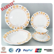 20pcs cortar el borde de vajilla de porcelana blanca Super conjunto
