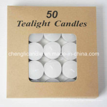 White Tealight Candles in Aluminum Container