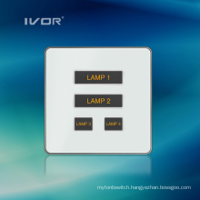 4 Gangs Lighting Switch Touch Panel Aluminum Alloy Material (AD-ST1000L4)
