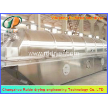 Horizontal vibrating fluidized bed dryer for magnesium chloride