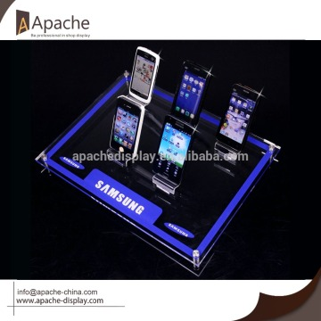 Cell phone display tray/acrylic display holder base