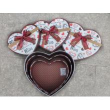 Heart Shaped Storage Gift Box Set of 3