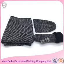 2016 Yiwu approvisionnement d'usine kintted femmes hiver écharpe et chapeau ensemble