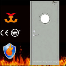 Escape Fire resistant with round glass steel door