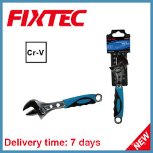 """Fixtec Hand Tools 12"""" CRV Adjustable Wrench with Plastic Handle"""