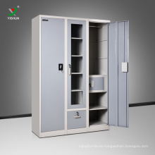high quality 3 door painting drawer India almirah design with price