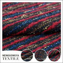 Logotipo personalizado Venta al por mayor Cómodo chenille rayas tela de tweed