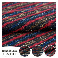 Custom logo Wholesale Comfortable chenille striped tweed fabric