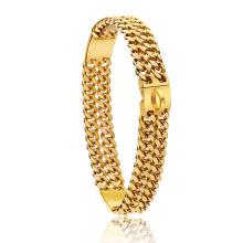 Factory Drop Shipping 18K Gold Customized LOGO Dog Chain 24mm Wide Heavy Duty Strong Cuban Chain Link Dog Collar