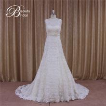 Гуанчжоу цветочным мотивом Трапеция Свадебные платья кружево