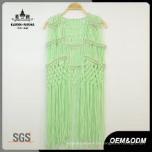 Frauen-spezielles Entwurfs-metallische Korn-Grün Beachwear
