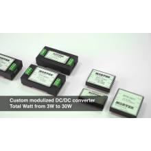 Convertisseur CC CC haute efficacité à entrée personnalisée