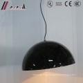 Modern Simple Hotel Decorative Black Resin Round Pendant Lamp