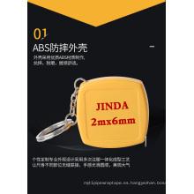 Mini cinta métrica de tela promocional con su logotipo