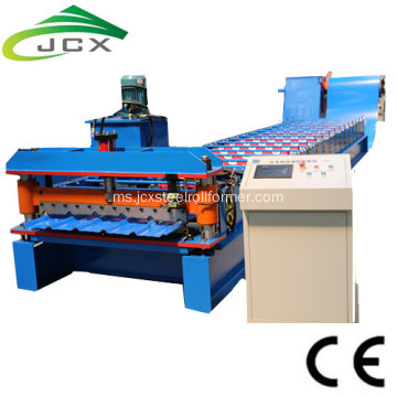 Bahasa Rusia C8 Roofing Sheet Roll Forming Machine